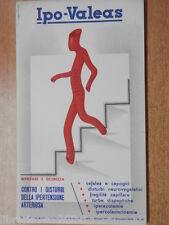 Vecchia carta assorbente IPO VALEAS Contro i disturbi della ipertensione arterio