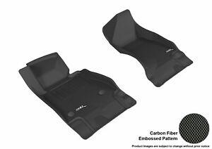 3D MAXpider Floor Mats for CHEVROLET CAMARO 2016-2019 KAGU BLACK R1