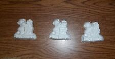 Small bear with stack of gifts plaster of Paris painting project. Set of 6!