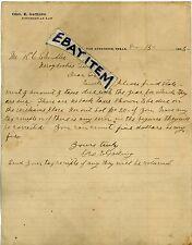 1905 Letterhead GEORGE EDWARD GATLING San Augustine TEXAS lawyer ATTORNEY letter