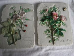 Wild Flower Resin Wall Hanging Plaques