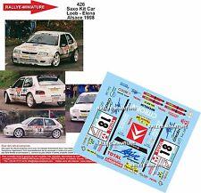 DECALS 1/43 REF 426 CITROEN SAXO KIT CAR SEBASTIEN LOEB RALLYE ALSACE 1998 RALLY