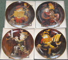 "Schmid ""The Music Makers"" Limited Edition Porcelain Collectors Plates 1-4"