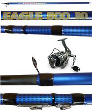 kit canna eagle 4m + mulinello da pesca bolognese trota galleggiante mare lago