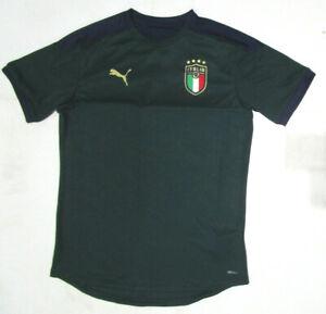 Puma Italia FIGC Training Soccer Jersey, New Drk Green Navy Moisture Managment L