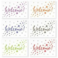 36 Pcs Welcome Note Cards Bulk Set, Colorful Star Pattern Cards with Envelopes