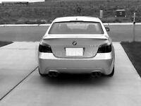 Rear bumper diffuser for BMW E60 E61 twin quad pipe exhaust M5 M Sport tech