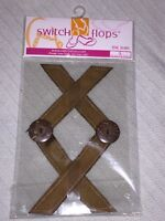 """LuLu Designs, Inc. Switch Flops """"The Jean"""" Solid Brown Size L Strap Charms"""