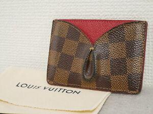 Louis Vuitton ID Card Holder CardCase Pass Porto Cult Kaisa Damier N61219 #4408P
