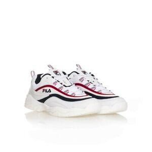 FILA RAY LOW sneakers Tg 44 uomo scarpe da ginnastica Bianco/Blu/Rosso