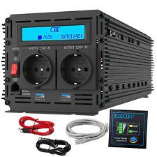 3000W 6000W Power Inverter DC 24V a AC 240V Convertidor con LCD 2 Puertos Usb