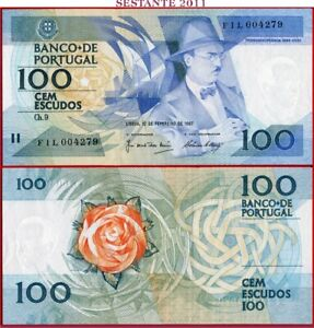 (com) *PORTUGAL - 100 ESCUDOS 12.2. 1987 Prefix FIL COMMEMORATIVE - P 179c - UNC
