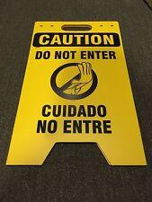 Brady Prinzing Sf655B Polyethylene Caution Do Not Enter Bilingual Floor Sign