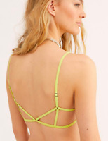 Free People Intimately Womens Black Prism Strappy Back Bra Size XS//S New