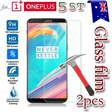 2X Oneplus 5 5T Tempered Glass /Plastic Screen Protector Guard for One Plus 5 5T