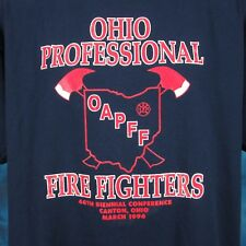 vintage 90s OHIO ASSOCIATION OF PROFESSIONAL FIRE FIGHTER T-Shirt XL canton thin