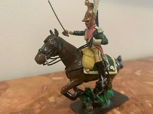 Vintage Tin Officer 15 th Reg. Dragoons France, 1812 .