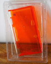 Etui, housse / coque de protection rigide transparente pour Nintendo 3DS orange