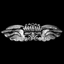 Lotus Bloom Pewter Barrette Hair Clip by Oberon Design, Combined Shipping