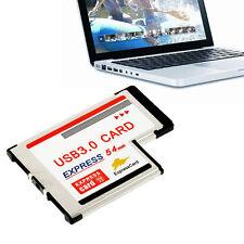 Express Card Expresscard 54mm to USB 3.0x2 Port Adapter#RE