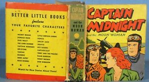 """VINTAGE BETTER LITTLE BOOK """"CAPTAIN MIDNIGHT and the MOON WOMAN"""" #1452 1943"""