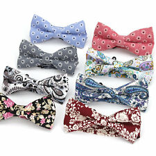 Lot 8 Pcs Men's Bow Tie Adjustable Cotton Bowtie Vintage Flower Floral Butterfly