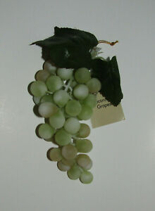 Grapes Decorative Fruit New Fake Green Cluster Bunch Hanging Loop