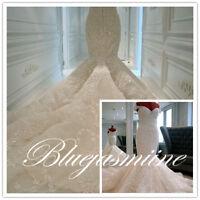 HOT Mermaid White/Ivory Wedding Dress Bridal Ball Gown Custom Plus12 14 16 18 20
