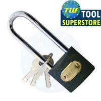 Heavy Duty Cast Iron 38mm Security Long Steel Shackle Padlock 3 Keys Safety