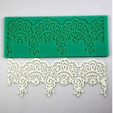 Lace Silicone Mold Mould Sugar Craft Fondant Mats Cake Decorating Bakings Tools