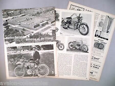 Harley-Davidson Motorcycle History MAGAZINE ARTICLE - 1965