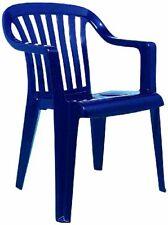 Chaises de jardin et de terrasse bleus en plastique