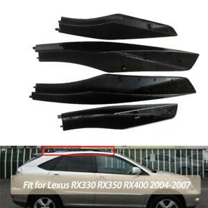 For 2004-07 Lexus RX330 RX350 4Pcs/Set Black Roof Side Rack End Cover Cap Shell