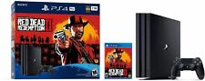PlayStation 4 Pro 1TB Red Dead Redemption 2 Bundle  Includes Game and Console
