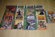lot 9 Livres Star Wars Clone Wars / Rebels - collection La Bibliothèque Verte