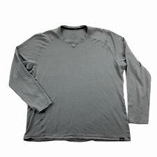 Patagonia Mens Large Gray Wool Base Layer Long Sleeve Shirt