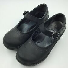Ariat Caroline Mary Janes Clogs Shoes  Black Nubuck Leather Mary Jane 6.5 B