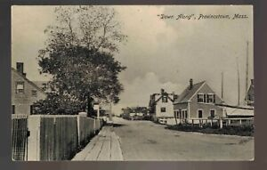 PROVINCETOWN MA ~ DOWN ALONG ~ EAST END STREET VIEW ~ Ca 1905  ~ 478ub