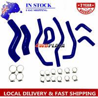 Silicone Radiator Hose For TOYOTA Hilux KUN26R SR& SR5 3.0L 2005-2014 Blue 4WD