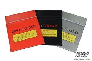 Lipo Safe Bag 18x22 cm Schutz Lipo Tasche Schwarz Rot Grau Akkutasche Ladetasche
