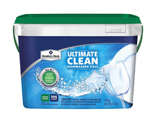 Dishwasher Detergent Packs 105 No Pre-Wash Spots Residue All In One Septic Safe