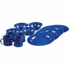 Coleman 12-Piece Enamelware Dining Set (Blue) , New, Free Shipping