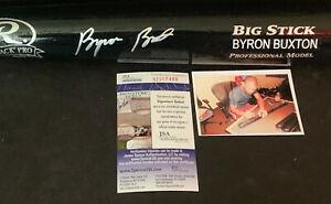 Byron Buxton Minnesota Twins Autographed Signed Engraved Bat Black JSA COA