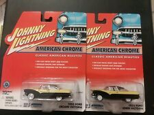 Johnny Lightning American Chrome 55 Ford Crown Vic White Lightning Lot of 2 Blk