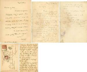 BERTELLI, Luigi [VAMBA]Due lettere ed una cartolina postale indirizzati a L Lod