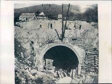 1956 Press Photo Construction Scene West Portal Hoosac Railroad Tunnel MA