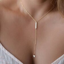 Fashion Charm Jewelry Pendant Chain Long Gold Plated Choker Statement Necklace