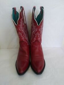 Red/white Nocona western womens Boots sz 7B