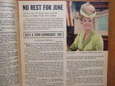 May 15, 1965 Chicago Tribune TV Week Magazine(JUNE   LOCKHART/WINK   MARTINDALE)