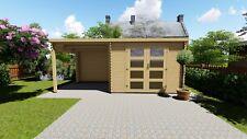 Agande Gartenhaus Blockhaus Gerätehaus Holz 300x240+240, 28 mm, 2839236